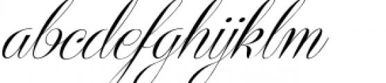 Centeria Script Medium Slanted Font LOWERCASE