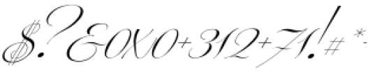 Centeria Script Thin Alt Slanted Font OTHER CHARS