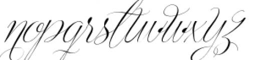 Centeria Script Thin Alt Slanted Font LOWERCASE