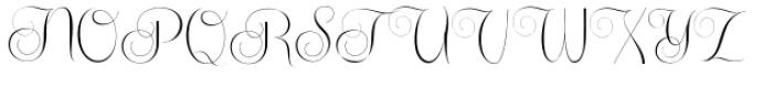 Centeria Script Thin Alt Font UPPERCASE
