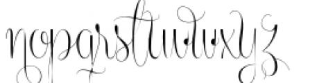 Centeria Script Thin Alt Font LOWERCASE