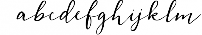 Cedrika script Font LOWERCASE