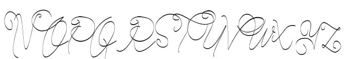 Cecilia Script Font UPPERCASE