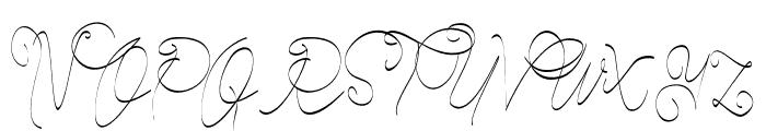 CeciliaScript Font UPPERCASE