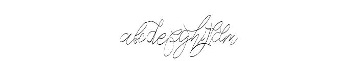 CeciliaScript Font LOWERCASE