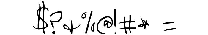 Cedarville Pnkfun1 Cursive Font OTHER CHARS
