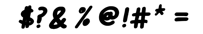 Cee's Hand Bold Italic Font OTHER CHARS