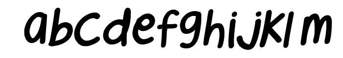 Cee's Hand Italic Font LOWERCASE