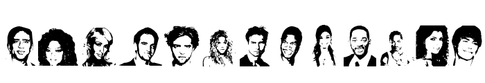 Celeb Faces Font UPPERCASE