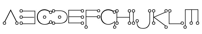 Celestial Font LOWERCASE
