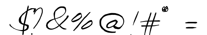 Celine Dion Handwriting Font OTHER CHARS