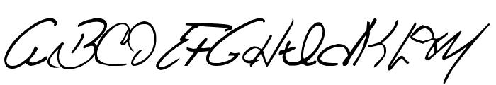 Celine Dion Handwriting Font UPPERCASE