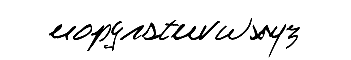 Celine Dion Handwriting Font LOWERCASE