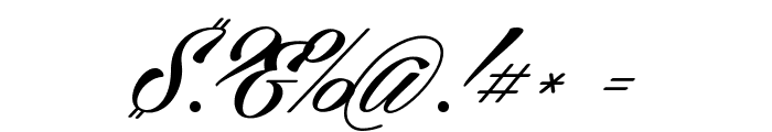 Cellos Script Personal Use Only Font OTHER CHARS