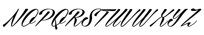 Cellos Script Personal Use Only Font UPPERCASE