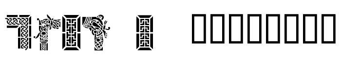 Celtic Designs I Font UPPERCASE