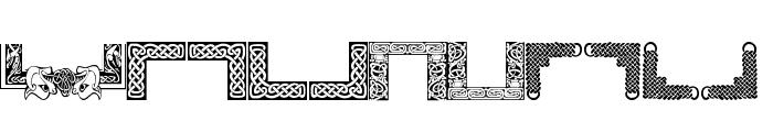 Celtic Frames Font UPPERCASE