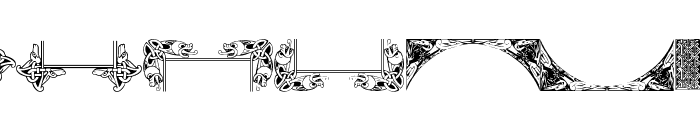 Celtic Frames Font LOWERCASE