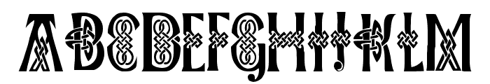 Celtic Knots Font UPPERCASE