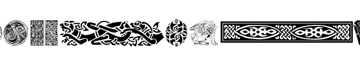 Celtic Patterns Font LOWERCASE