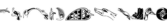 CelticOrnamBats Font UPPERCASE