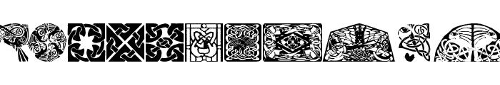 CelticOrnamBats Font LOWERCASE