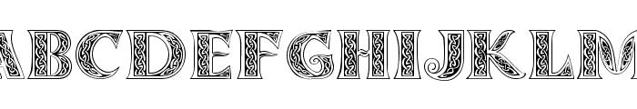 Celticmd Decorative w Drop Caps Font UPPERCASE