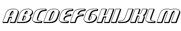 Centaurus 3D Font LOWERCASE