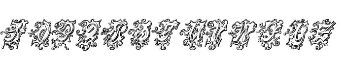 CentennialScriptFancy Three Font UPPERCASE
