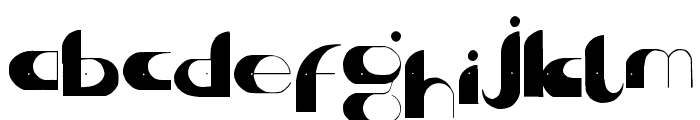 Center of Gravity Font LOWERCASE