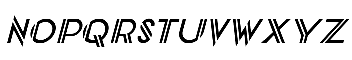 CentreClawsSlant Font UPPERCASE