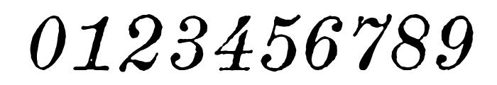 Century modern TT Italic Font OTHER CHARS