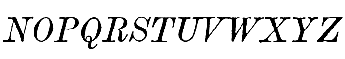 Century modern TT Italic Font UPPERCASE