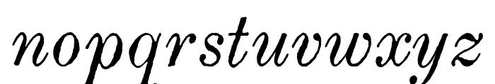 Century modern TT Italic Font LOWERCASE