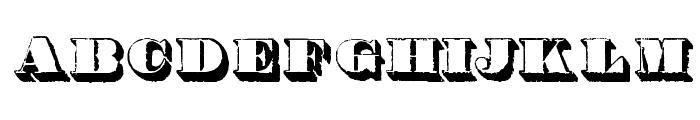 Century modern shadow Font UPPERCASE