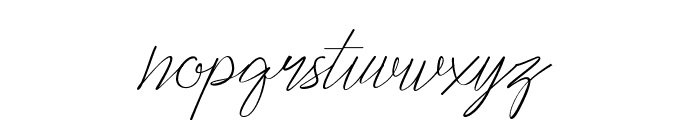 Cepttoni calligraphy Font LOWERCASE