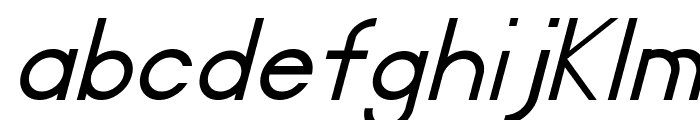 Certified Italic Font LOWERCASE
