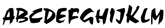 Cezanne Regular Font UPPERCASE