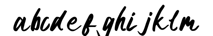 certain Bold Font LOWERCASE