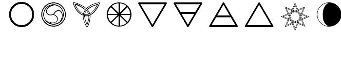 Celtic Astrologer Symbols Symbols Font OTHER CHARS
