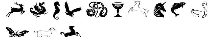 Celtic Astrologer Symbols Symbols Font LOWERCASE