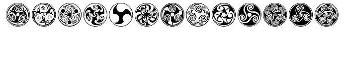 Celtic BA Ornaments Font UPPERCASE