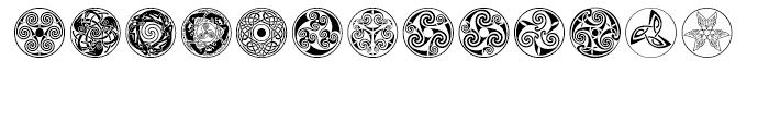 Celtic BA Ornaments Font LOWERCASE