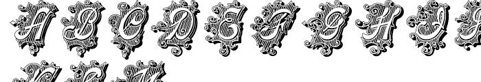 Centennial Script Fancy Shadow Regular Font UPPERCASE