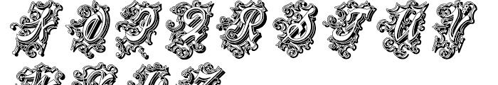 Centennial Script Fancy Shadow Regular Font LOWERCASE