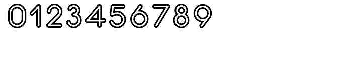 Central Inline Font OTHER CHARS