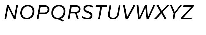 Centrale Sans Book Italic Font UPPERCASE