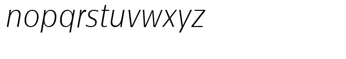 Centrale Sans Condensed Extra Light Italic Font LOWERCASE