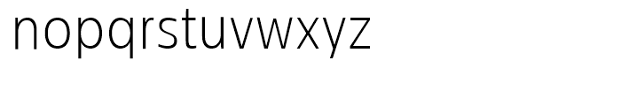 Centrale Sans Condensed Extra Light Font LOWERCASE