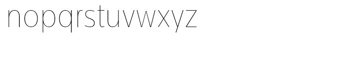 Centrale Sans Condensed Extra Thin Font LOWERCASE